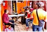 Filmagem para documentário sobre cultura Romani na Roménia