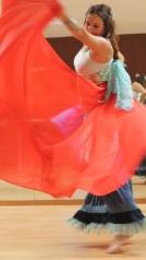 Charlotte Bispo, professora de Danças Orientais na CulturDANÇA