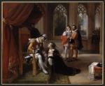 Inês de Castro lança-se com os filhos aos pés do rei D. Afonso IV